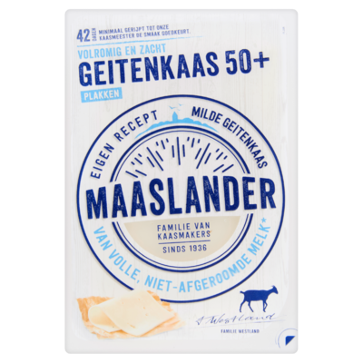Maaslander Geitenkaas 50+ Plakken 140 g