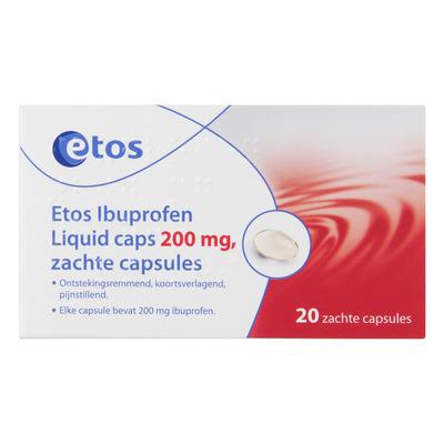 Huismerk Ibuprofen liquid caps 200mg