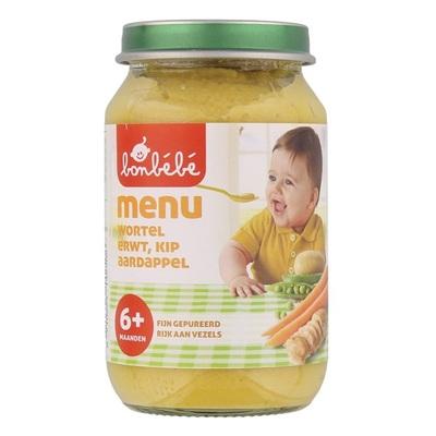 Bonbebe Baby/Peuter Maaltijd Menu Wortel, Erwt, Kip En Aardappel