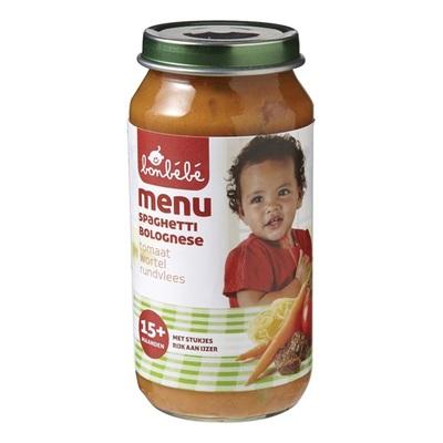 Bonbebe Baby/Peuter Maaltijd Spaghetti Bolognese