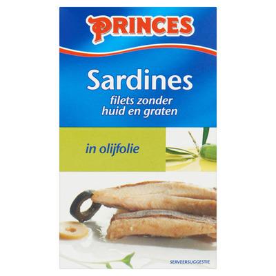 Princes Sardines zonder huid en graat