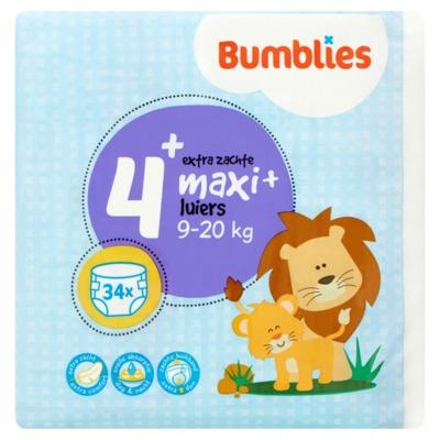 Bumblies nr. 4+ luiers maxi 34 stuks