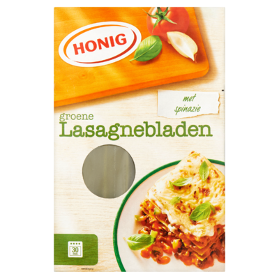 Honig Groene Lasagnebladen met Spinazie 250 g
