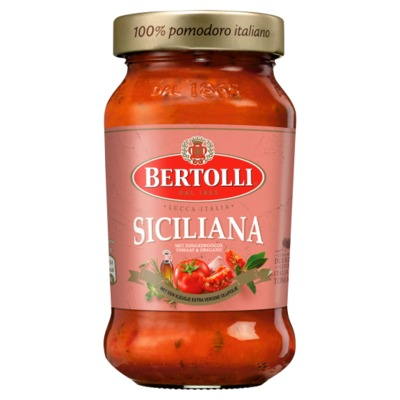Bertolli pastasaus zongedr. tomaat & oregano 400 gram