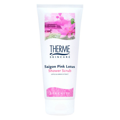 Therme Saigon pink lotus shower scrub