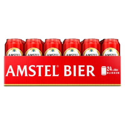 Amstel 24 blikken à 50 cl.