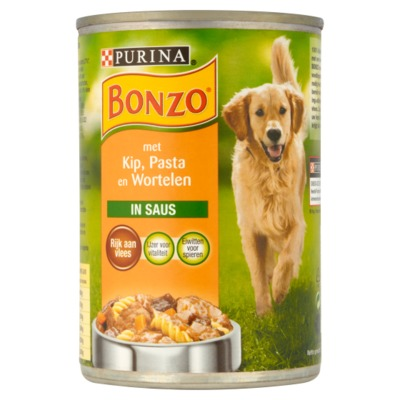 Bonzo kip/groente/pasta 400 gram