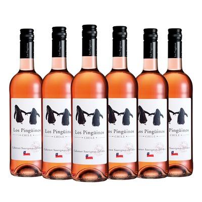 Los Pingüinos Cabernet-Merlot rosé 6x 75 cl.