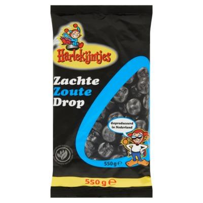 Harlekijntjes zacht zoute drop 550 gram