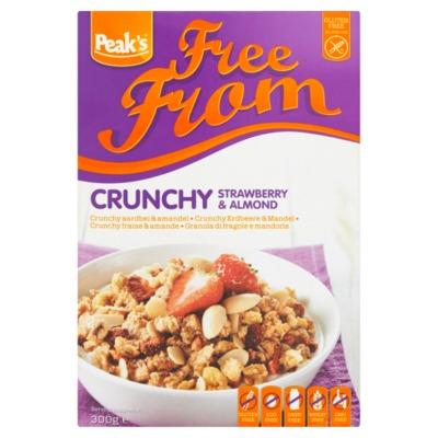 Peak's Free From crunchy aardbei 300 gram