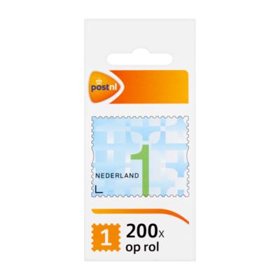 PostNL Nederland 1 op Rol Postzegels