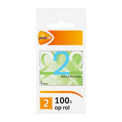 PostNL Nederland 2 op Rol Postzegels