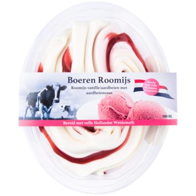 Primafrost Boeren roomijs vanille aardbei