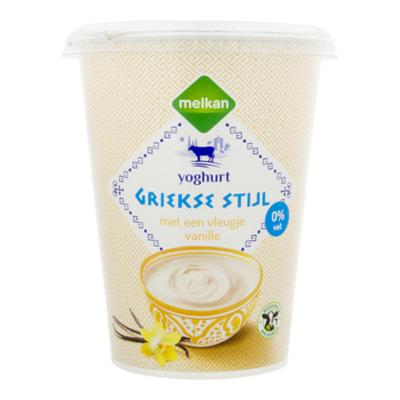 Melkan Griekse stijl yoghurt vleugje vanille