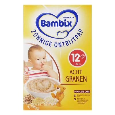 Bambix Zonnige ontbijtpap 8 granen 12 mnd