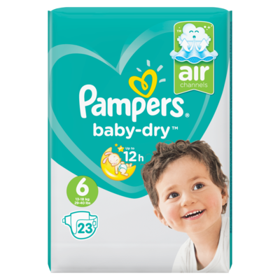 Pampers Baby dry extra large mt6