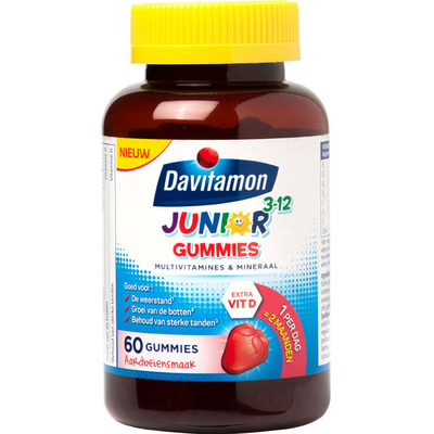Davitamon Junior gummies multivitaminen 3-12 jaar