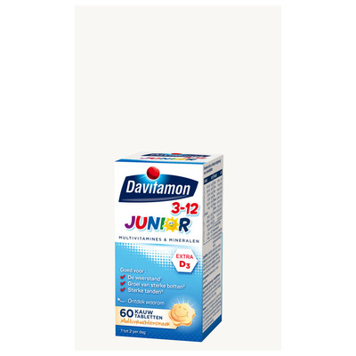 Davitamon Junior kauwvitamines multifruit 3+