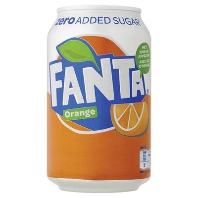 Fanta Frisdrank Orange Zero Blik 33cl