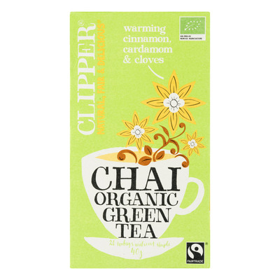 Clipper Organic green tea chai 1-kops