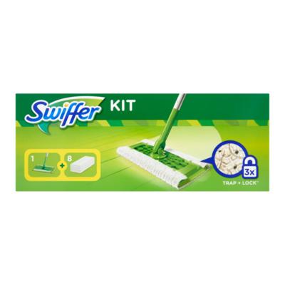 Swiffer Vloer starterkit (1 handvat + 8 droge doekjes)