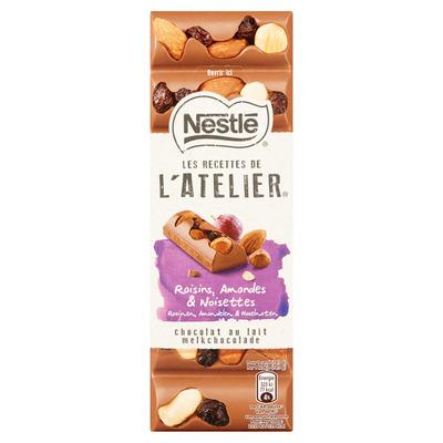 Nestlé Melk rozijn hazelnoot amandel tablet