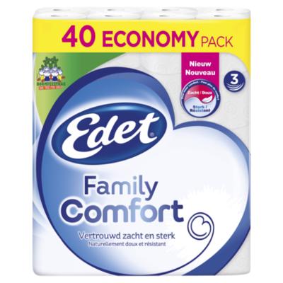Edet Toiletpapier family 40-rol