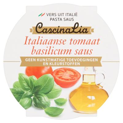 Cascina Lia Italiaanse Tomaat Basilicum Saus 180 g