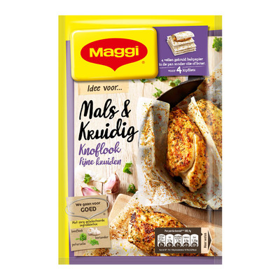 Maggi Mals en kruidig knoflook-fijne kruiden