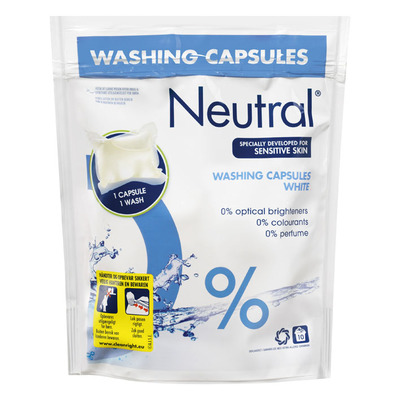 Neutral Wasmiddel capsules wit