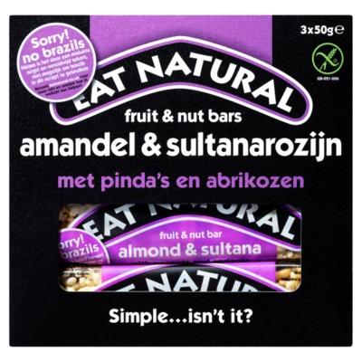 Eat Natural repen paranoot & sultanarozijn 3-pack