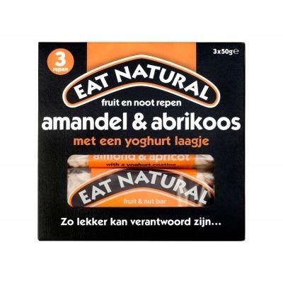 Eat Natural Repen met amandelen, abrikozen en yoghurtlaagje