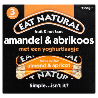 Eat Natural Fruit & nootrepen met amandel, abrikoos en een yoghurtlaag