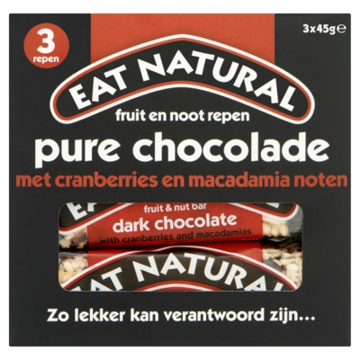 Eat Natural repen pure chocola 3-pack