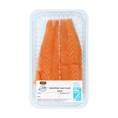 Huismerk Verse Vis Vismarkt Zalmfilet met Huid Stuk