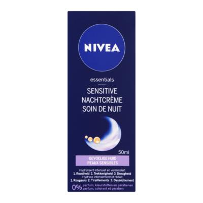 Nivea Essentials Sensitive Nachtcrème Gevoelige Huid