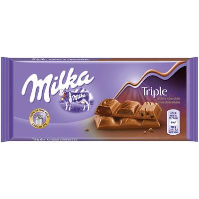 Milka Reep triple chocolade