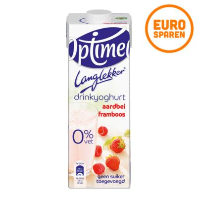 Optimel Lang Lekker Drinkyoghurt Aardbei Framboos