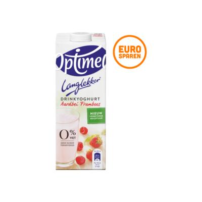 Optimel Langlekker Drinkyoghurt Aardbei Framboos
