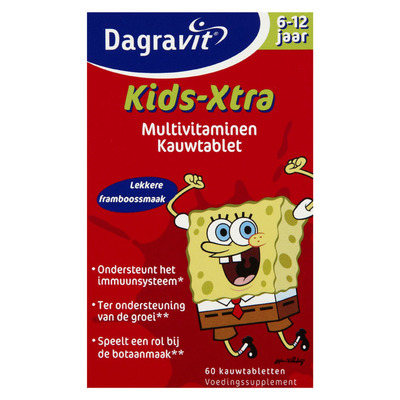 Dagravit Multivitaminen kind 6-12 jaar framboos
