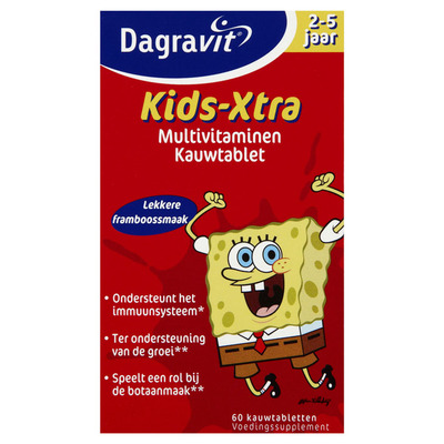 Dagravit Multivitaminen kind 2-5 jaar framboos