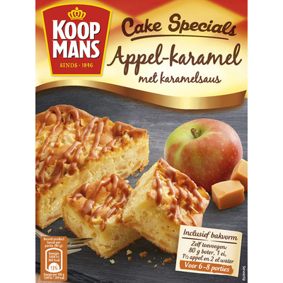 Koopmans Cake specials appel karamel met saus