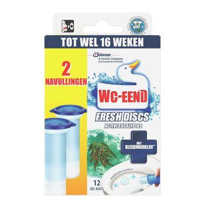 Wc-eend Fresh Discs Eucalyptus Duo Navulverpakking