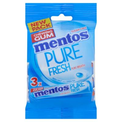 Mentos Pure Fresh Freshmint rol pack 3x8p