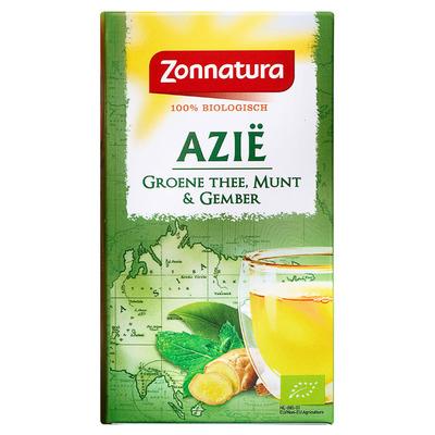 Zonnatura Azië groene thee gember pepermunt