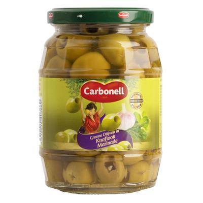 Carbonell Groene olijven in knoflookmarinade