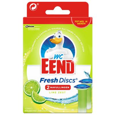 WC Eend Fresh discs lime zest navulling