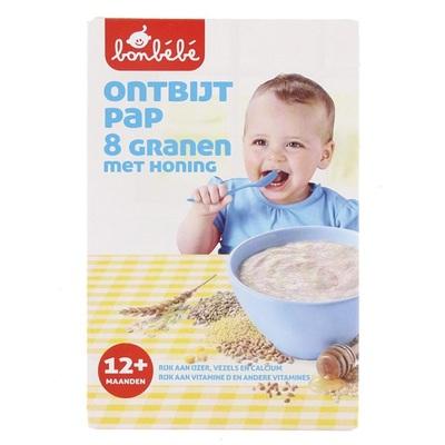 Bonbébé Baby/Peuter Pap Ontbijtpap 8 Granen Met Honing