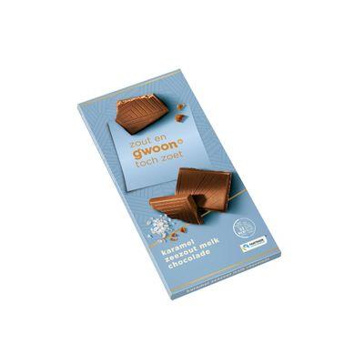 Huismerk Chocoladereep Karamel Zeezout