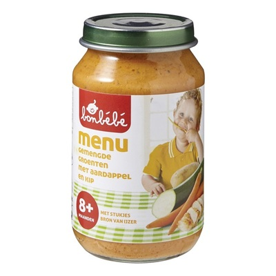 Bonbebe Baby/Peuter Maaltijd Met Gemengde Groenten, Aardappel En Kip